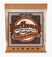 "Ernie Ball ""Earthwood Phos. Bronze extra light"" Westerngitarren Saitenset 010-050"
