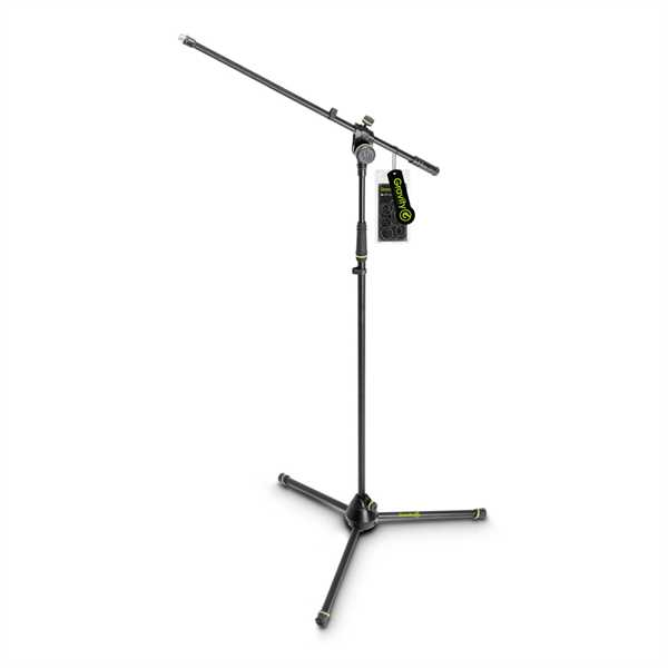 Gravity MS 4321 B - Mikrofonständer mit Dreibein-Klappfuß und 2-Punkt Galgen