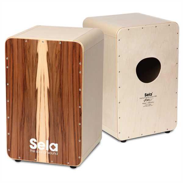 Sela® CaSela Satin Nuss Professional Snare Cajon