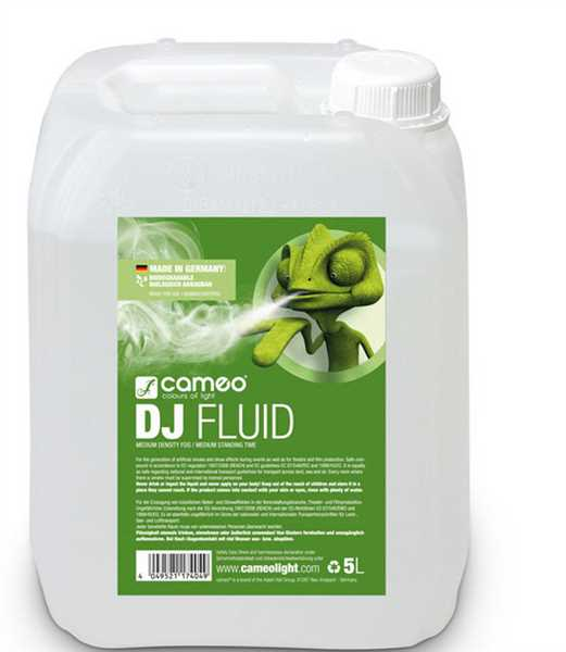 Cameo DJ Fluid - Nebelfluid mit mittlerer Dichte und mittlerer Standzeit 5L