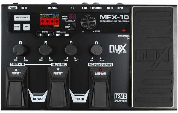 Nux MFX-10 Multieffektgerät für Gitarre
