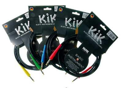 Klotz KIKC 3m PP3 Instrumentenkabel rote Stecker