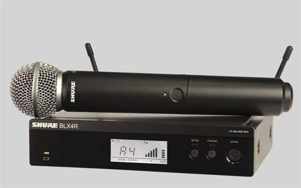 Shure Analoges BLX 24RE/SM58 rackfähiges Mikrofon-System S8