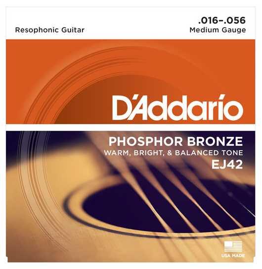 D'Addario EJ42 Resonator-Saiten