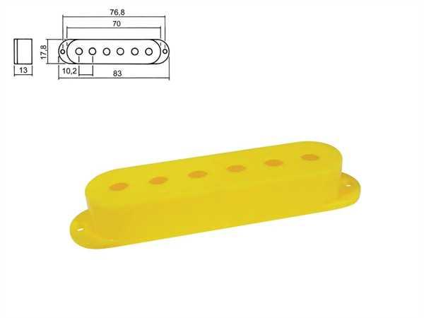 Boston SPC-10 YL Pickupkappen für Strat 3er Satz, gelb
