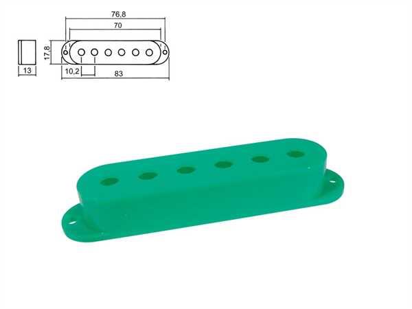Boston SPC-10 GN Pickupkappen für Strat 3er Satz, grün
