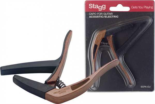 Stagg SPCX-CU DK-Wood Kapodaster Western- & E-Gitarre