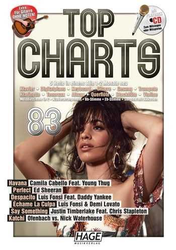 Top Charts 83 (+CD) :für C-, B-, Es- Instrumente, Klavier, Gitarre, Songtexte mit Akkorden