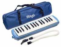 Stagg Melodika 32 Tasten blau mit Tasche