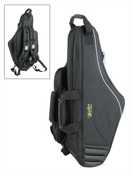 Boston Tenorsax Gig Bag mit Fiberglasseinlagen, Notentasche + Rucksackgarnitur