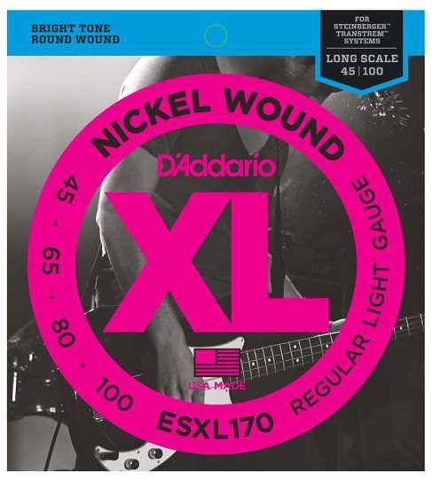 D'Addario ESXL-170 045-100 E-Basssaiten double ball end