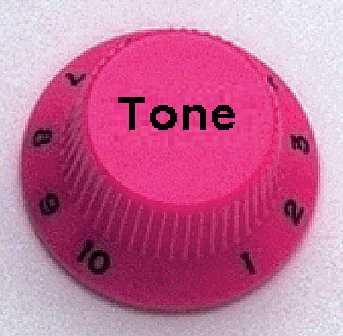 Allparts PK 0153-030, Tone-Potiknopf, Strat-Style, pink