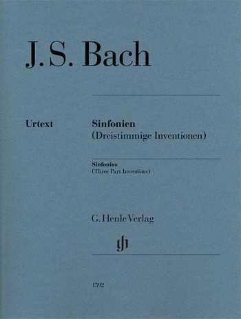 Johann Sebastian Bach Dreistimmige Inventionen (Sinfonien) BWV787-801 : für Klavier (ohne Fingersat