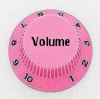 Allparts PK 0154-021, Volume-Potiknopf, Strat-Style, rosa