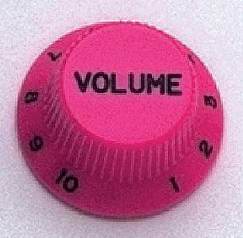 Allparts PK 0154-030, Volume-Potiknopf, Strat-Style, pink
