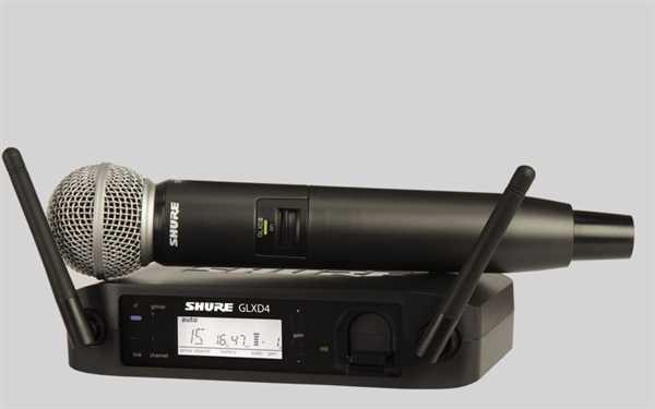 Shure GLXD 24E/SM58 Digital-Funkstrecke