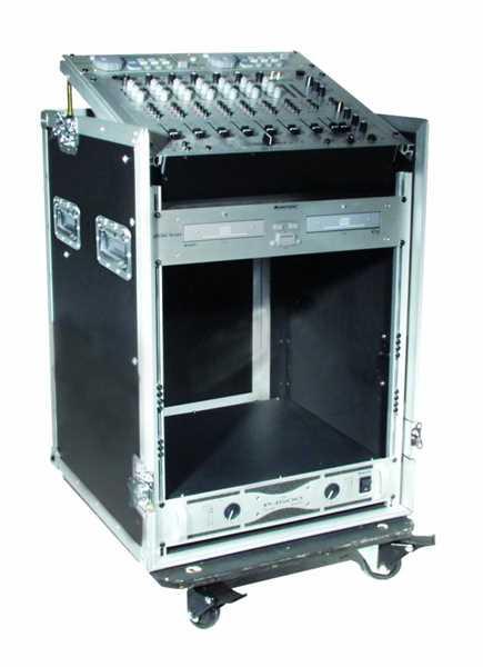 Roadinger Spezial-Kombi-Case Profi, 12 HE, rollbar