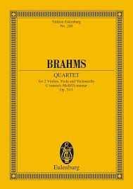 Brahms Streichquartett c-Moll op.51,1 Studienpartitur Brahms