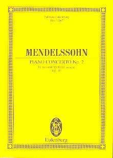Mendelssohn Konzert d-Moll Nr.2 op.40 : für Klavier und Orchester Studienpartitur