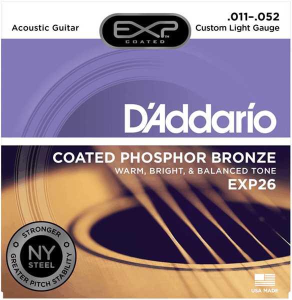 D'Addario EXP-26 Coated Saitenset 011-052