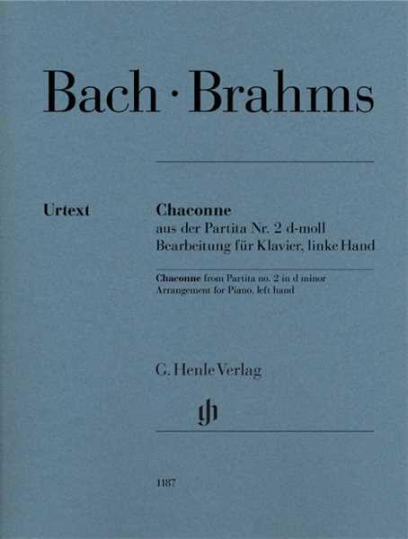 Johann Sebastian Bach Chaconne aus der Partita d-Moll Nr.2 : für Klavier linke Hand