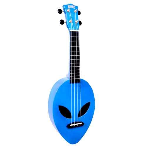 "Mahalo Creative Series ""Alien"" Ukulele (metallic blue)"