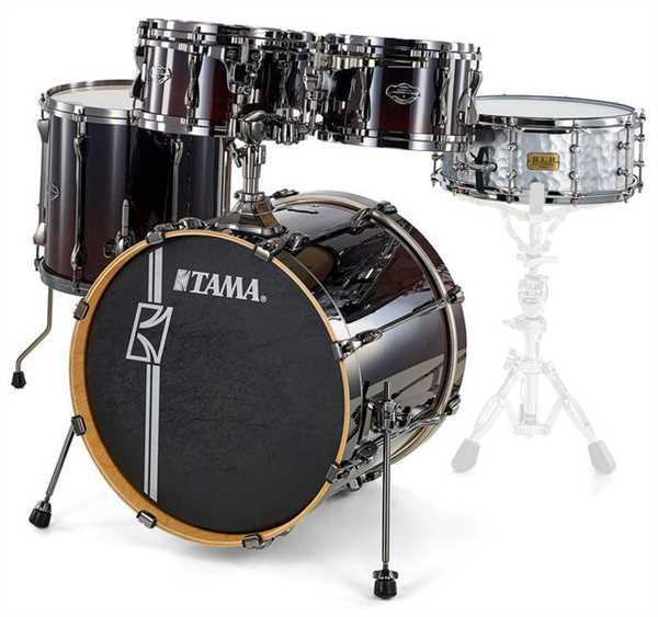 Tama Superstar Custom Hyperdrive 5-tlg. Dark Mocha Fade Shell Set
