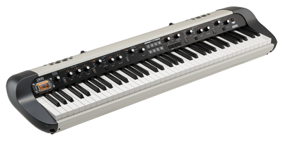 KORG Digitalpiano SV-2S 73 weiß metallic mit Lautsprecher