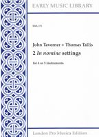 Antiquariat John Taverner Thomas Tallis 2 in nomine settings for 4 or 5 instruments