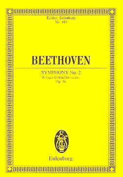 Ludwig van beethoven Sinfonie D-Dur Nr.2 op.36 : für Orchester Studienpartitur
