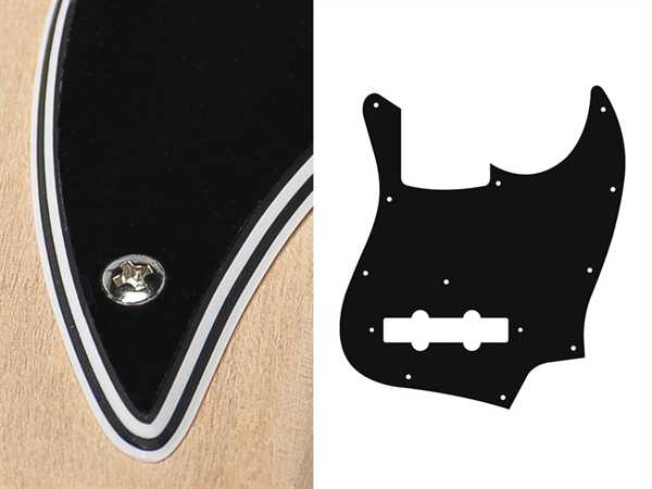 Boston Pickguard JB-410 B, 4-lagig für Jazz Bass, schwarz