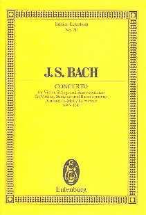 Antiquariat: J.S. Bach - Concerto für Violine, Streicher und Basso continuo