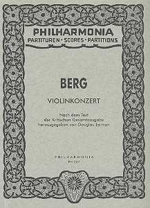 Alban Berg Konzert : für Violine und Orchester Studienpartitur