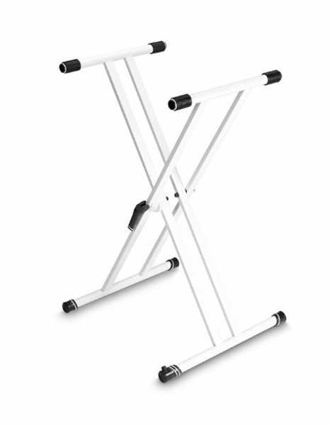 Gravity KSX-2 W Keyboardständer X-Form doppelstrebig Weiß