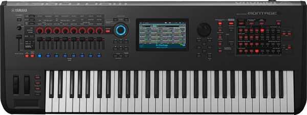 Yamaha Montage 6 AWM2/FM Synthesizer-Workstation mit 61 Tasten