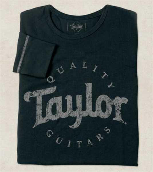 Taylor Aged Logo Longsleeve 20225 black Size M