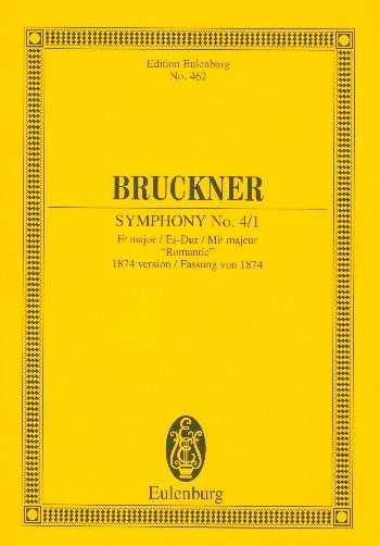 Anton Bruckner Sinfonie Es-Dur Nr.4 : für Orchester Studienpartitur