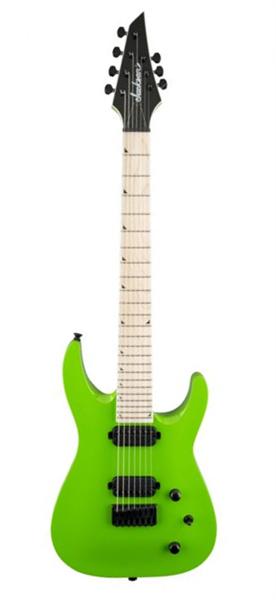 Jackson Slat HX-M 3-7 SG slime green 7-Saiter E-Gitarre