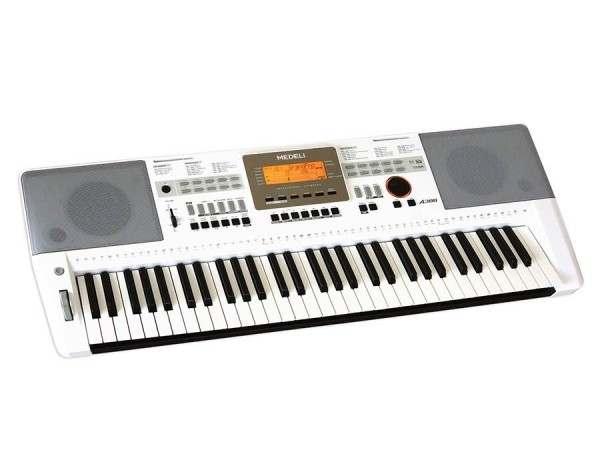 Medeli A300 W Portable Keyboard weiß mit Anschlagdynamik