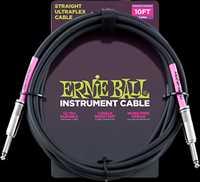 ERNIE BALL Instrumentenkabel, gerade/gerade, schwarz, 3,04m