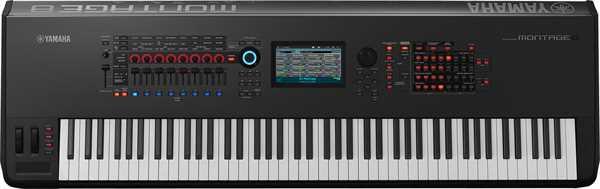 Yamaha Montage 8 AWM2/FM Synthesizer-Workstation mit 88 Tasten Hammermechanik