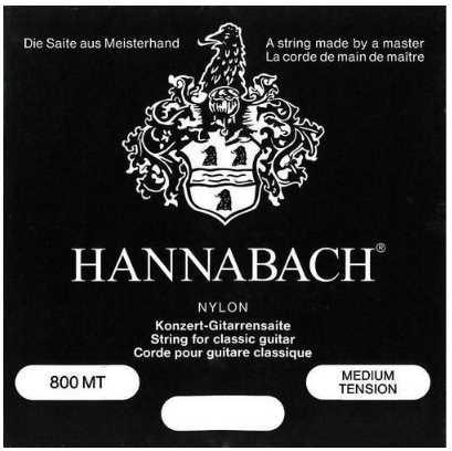Hannabach 800MT medium tension, versilbert