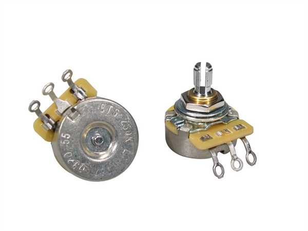 "CTS-250 B55 Poti Linear (Tone) F-Style Schaftlänge 1/4"" (6,35mm)"