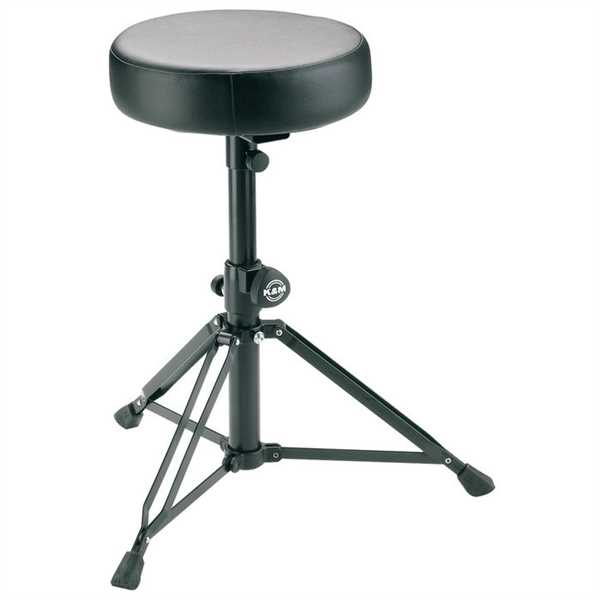K+M Drummersitz 14015 Kunstlederbezug schwarz