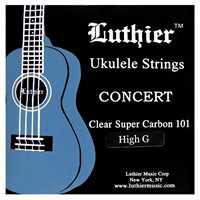 Luthier Ukulele Saiten Clear Super Carbon 101 Concert