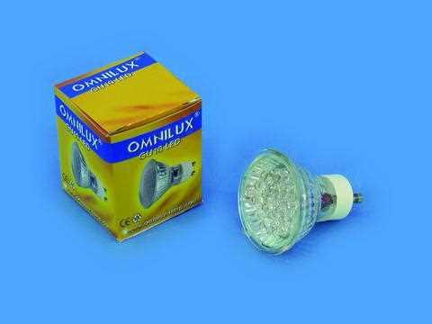 Omnilux 5W 240V GU-10 LED fading colours