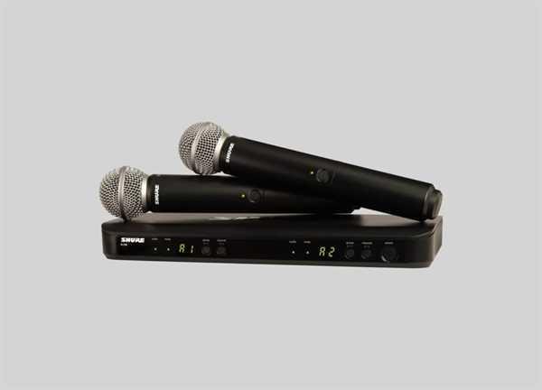 Shure BLX288/B58 Dual Funksystem mit Beta 58A S8 Mikrofonen und Doppelempfänger - Rückläufer
