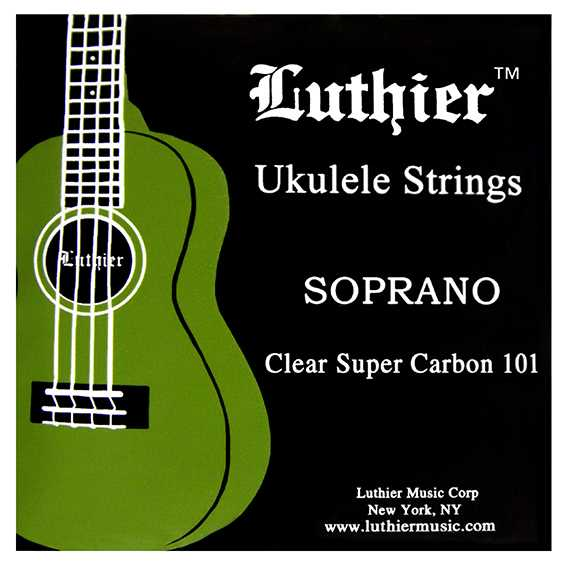 Luthier Ukulele Saiten Clear Super Carbon 101 Soprano