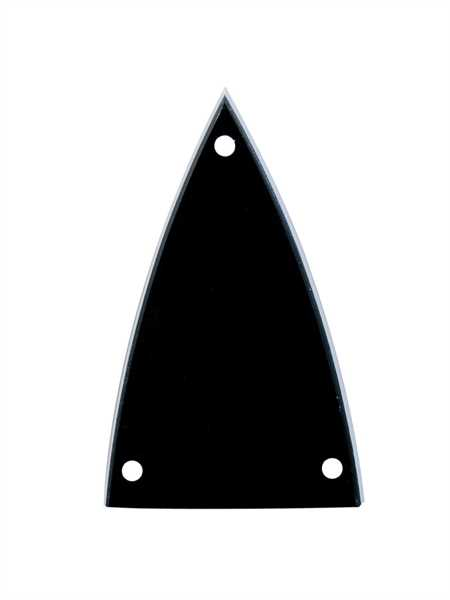 Boston LRC-20 B Truss Rod Cover, spitz, schwarz