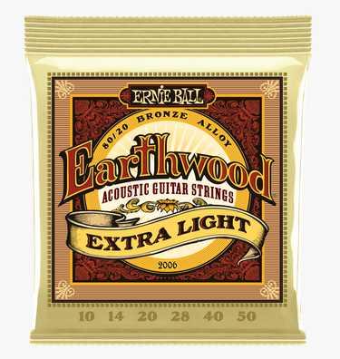 """Ernie Ball """"Earthwood Bronze med.-light"""" Westerngitarren Saitenset 010-050"""